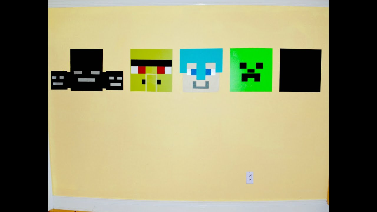 How to paint a MineCraft Wall Mural - YouTube