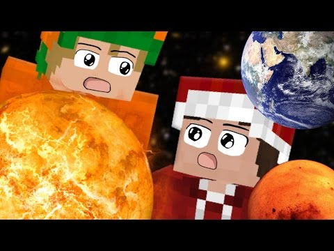 Im Weltall「Minecraft: JumpWorld」