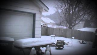 Winter storm in Lincoln, Nebraska, February 21st, 2013