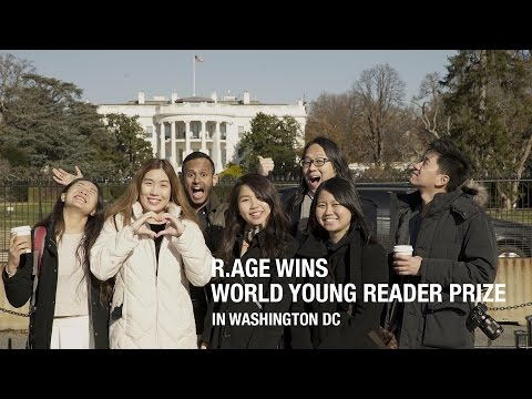 R.AGE wins World Young Reader Prize in Washington DC!