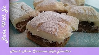 How to make Cinnamon Roll Blondies | Bake With Jo