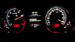 AUDI RS6, 730лс. Разгон 0-333