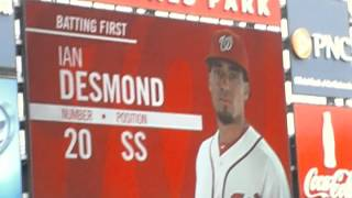 Washington Nationals Starting Lineup, Home Opener 4/12/2012
