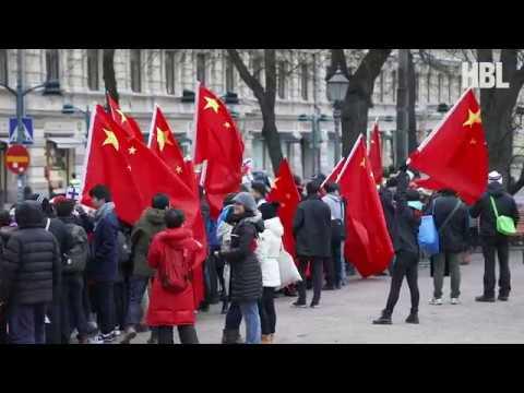 Kinas presidentpar i Helsingfors