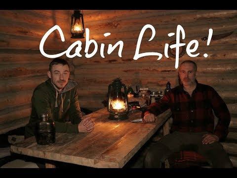 OFF GRID LOG CABIN Overnight!- Bear Ribs, Cold Temps, Firewood.. My Self Reliance Log Cabin Life