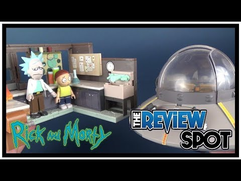 Toy Spot | McFarlane Toys Rick and Morty Spaceship and Garage Build Set