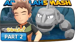 Pokemon Let's Go Pikachu & Eevee - Part 2: BROCK! (100% Walkthrough)