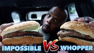 NEW Burger King Impossible Whopper vs Whopper | SMASH or PASS?