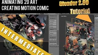 How To Animate 2D Art  Motion Comic Page   Blender 2.69 Tutorial