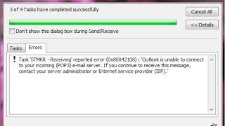 Outlook Error 0X80042108 - Fix Microsoft Error 0×80042108