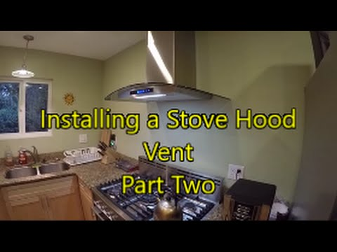 How to install a wall mounted stove hood part 2nal wall how to install a wall mounted stove hood part 2nal wall preps the hang youtube publicscrutiny Images