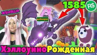 ЛЕТАЮЩИЙ ДРАКОН и ЗОМБИ БУФФАЛО в Адопт ми! Halloween Shadow Dragon in Adopt Me Update Roblox