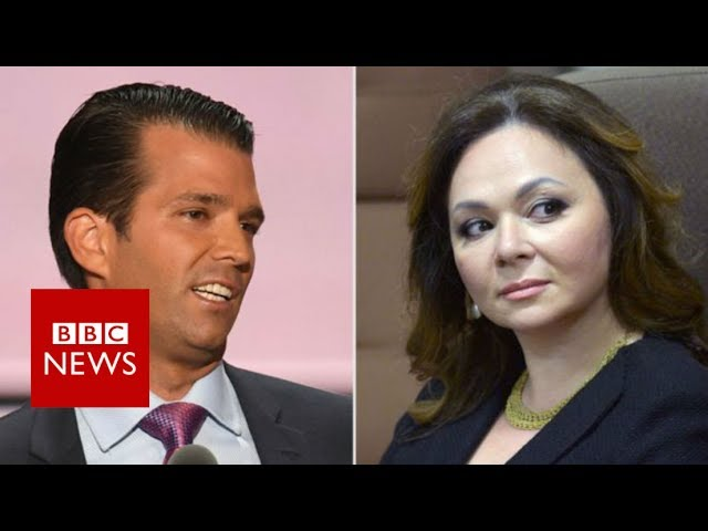 Trump defends 'innocent' son Donald Jr over Russia meeting - BBC News