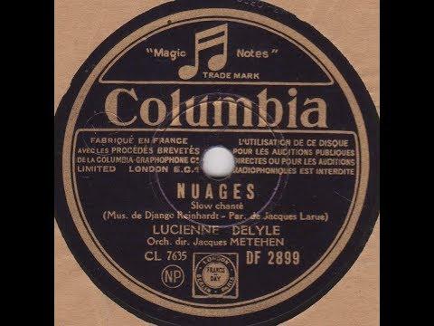 """Lucienne Delyle   """"  Nuages  """" 1942"""