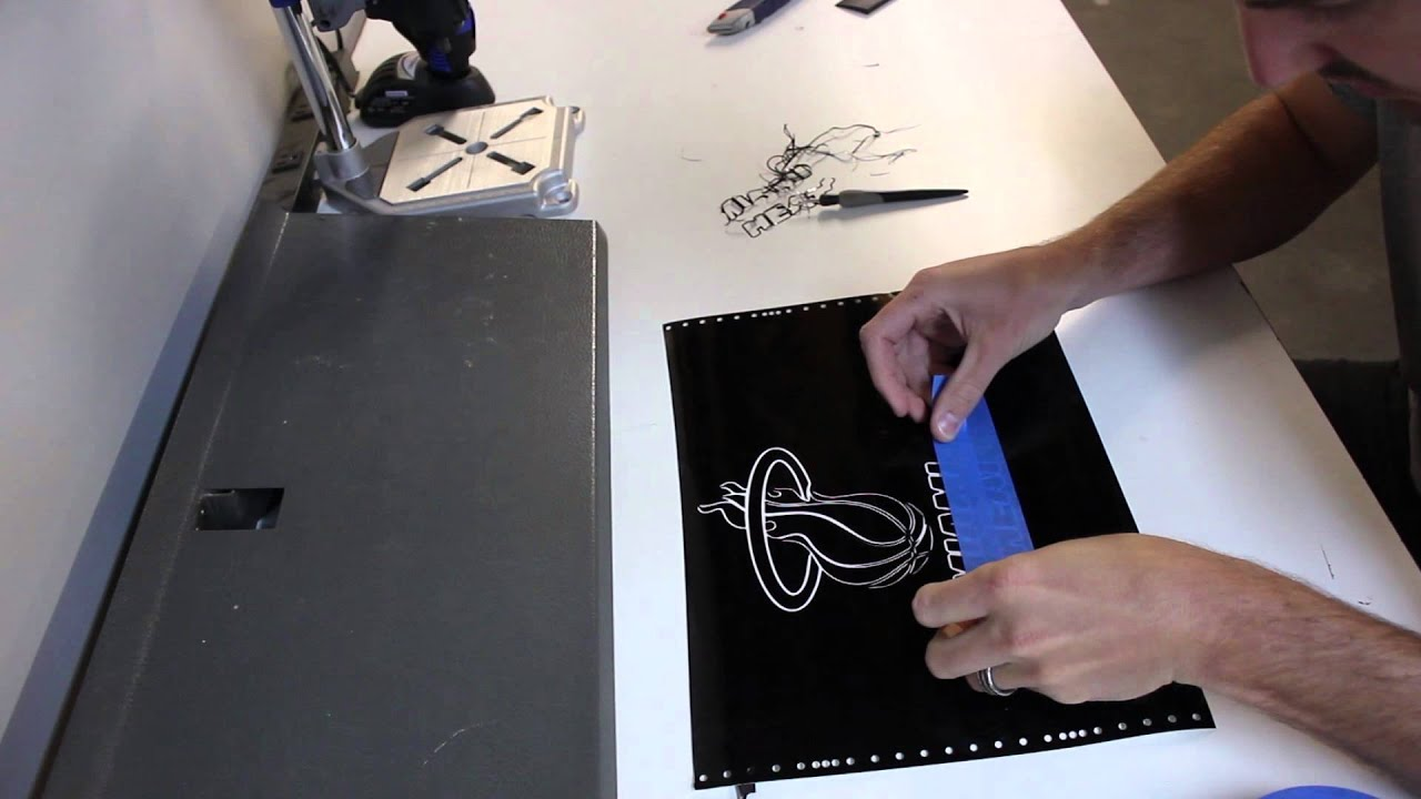 How To Make A Light Up EL Panel Miami Heat Poster - YouTube