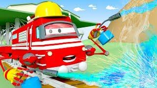 Поезд-механик - Поезд по имени Трой в Железнодорожном Городе | Мультфильм для детей