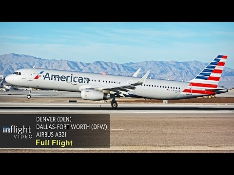 American Airlines Full Flight | Denver to Dallas Fort-Worth (Airbus A321) (with ATC)