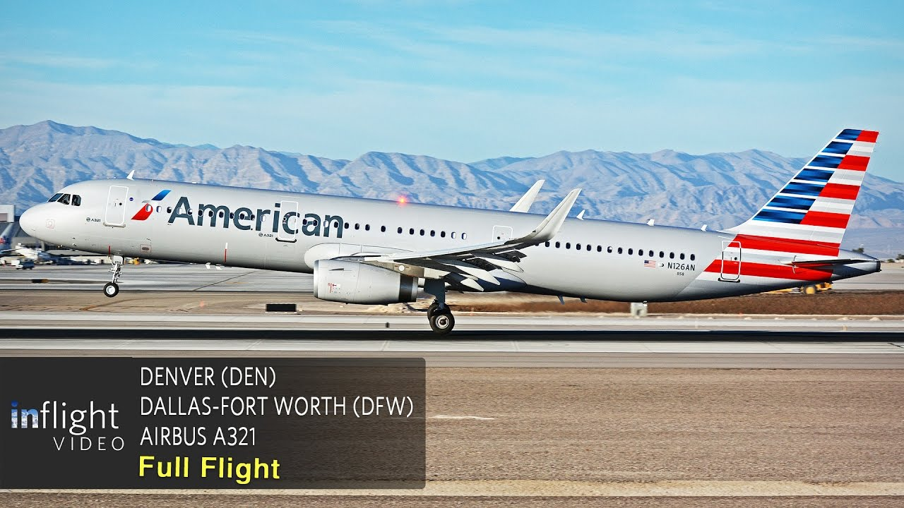 American Airlines Full Flight Denver To Dallas Fort