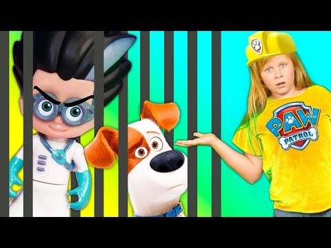 The Secret Life Of Pets Saved by the Assistant from Spooky PJ Masks Romeo