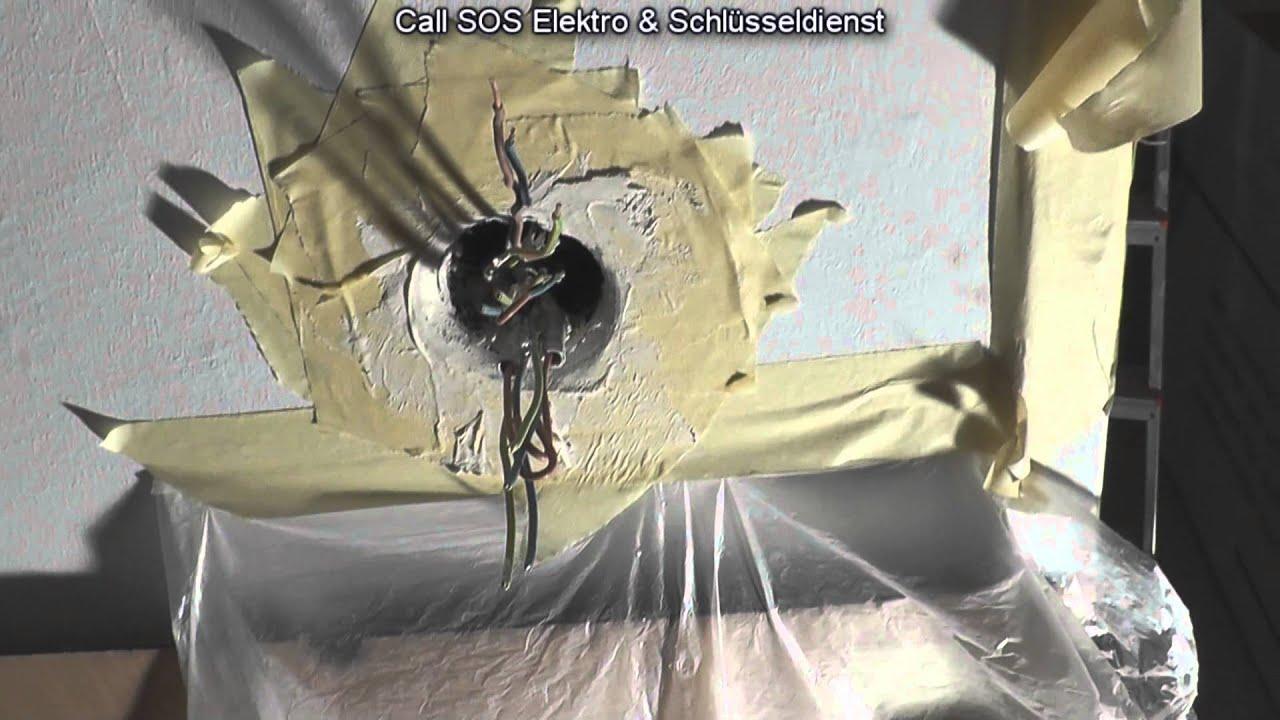 elektroinstallation schalterdose in einer wand sauber eingipsen youtube. Black Bedroom Furniture Sets. Home Design Ideas
