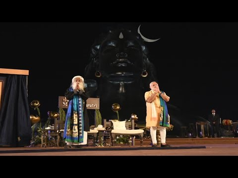 "PM Narendra Modi at Unveiling of 112 feet statue of ""Adiyogi - The Shiva"""