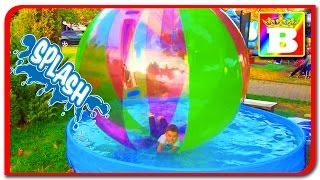 Water Playground  Kids having fun and playing in walking water ball  Funny video from Bogdan's Show
