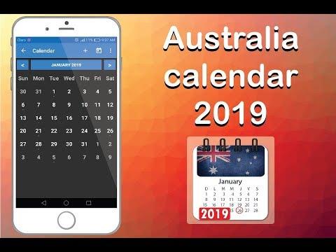 Australia calendar 2019 with public holidays – Apps on