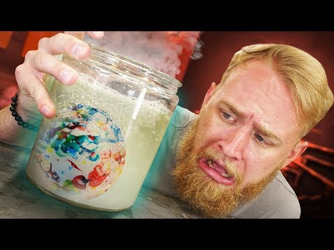 How Much Saliva Would Dissolve A GIANT Jawbreaker?!