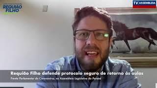 Requião Filho defende protocolo seguro de retorno às aulas, após a pandemia