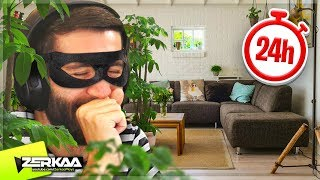 I STAYED in a STRANGERS House for 24 HOURS and they didn't KNOW! (Thief Simulator #8)
