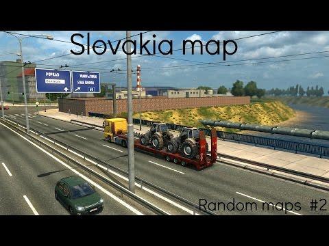 "Euro Truck Simulator 2 random maps #2 ""Slovakia map"""