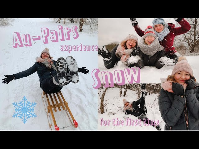 Au-Pairs experience snow in The Hague, Netherlands