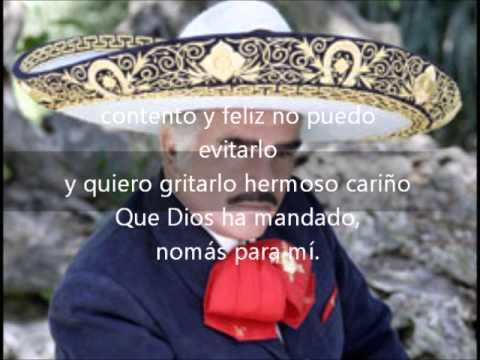 Hermoso cariño Vicente Fernandez con letra)