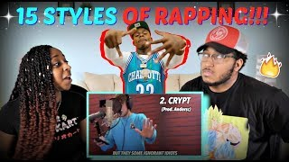 Смотреть клип Quadeca 15 Styles Of Rapping! (Ft. Dababy, Lil Nas X, Nle Choppa, Lil Tecca) Reaction!!!
