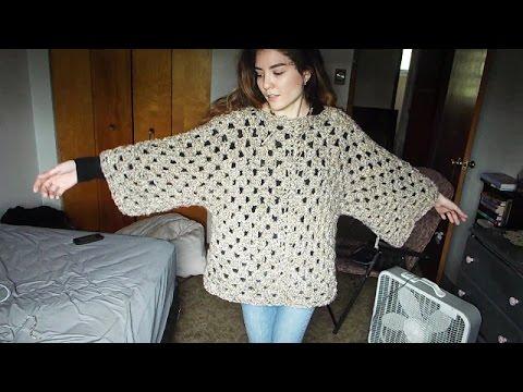 Making A Hexagon Granny Square Sweater - YouTube