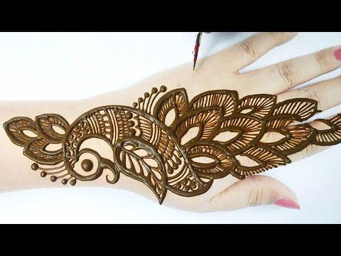 New Peacock Mehndi Design 2020 - आसान सिंपल मेहँदी डिज़ाइन लगाना सीखे - Stylish Arabic Mehndi Design