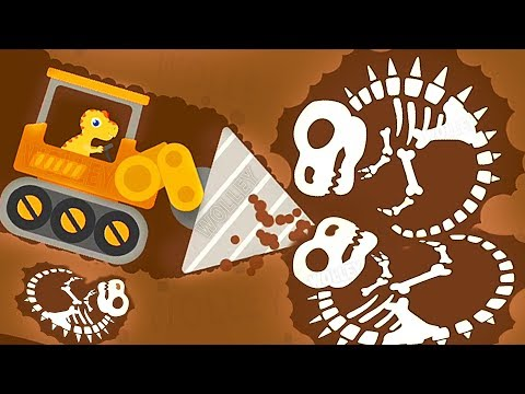 Dinosaur Digger 3 - Funny The Truck Kids Game - Dinosaur Digger Cartoon Games For Children