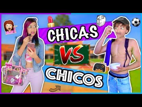¡CHICAS vs CHICOS! Rutina Para La Escuela - Lulu99