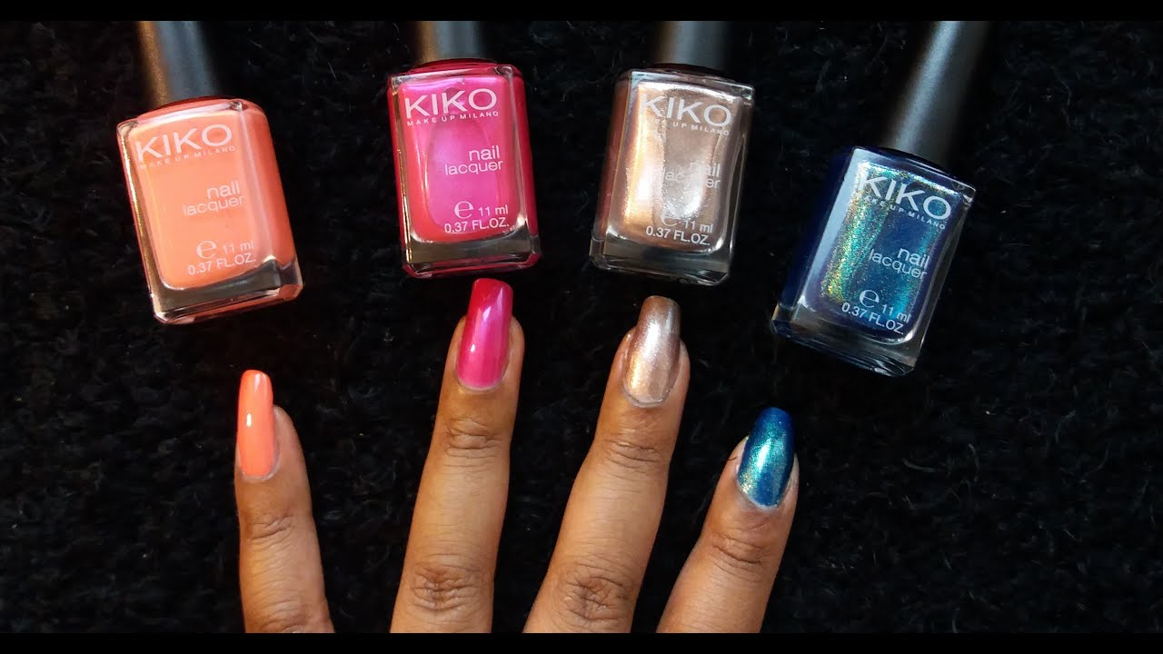 KIKO Nail Polish Swatch - YouTube