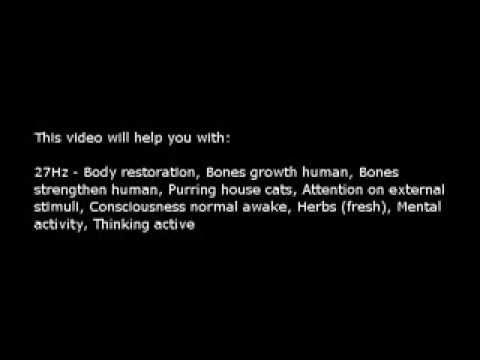 Body restoration, Bones growth, etc (Isochronic Tones 27 Hz) Pure Series