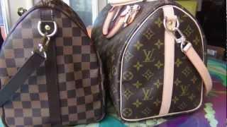 Louis Vuitton Speedy Bandouliere Damier Ebene vs Monogram
