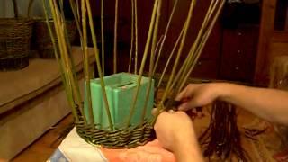 Как сплести лукошко из лозы