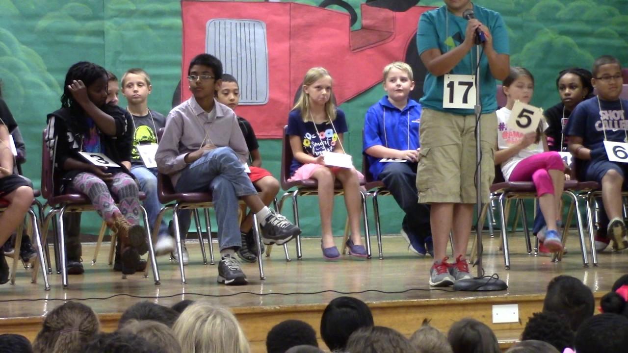 Spring Garden Elementary School Spelling Bee November 17 2016 Part 1 Youtube
