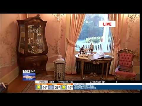 McFaddin-Ward House Christmas - Ch. 6/Fox 4 Morning Show - 12/08/2015