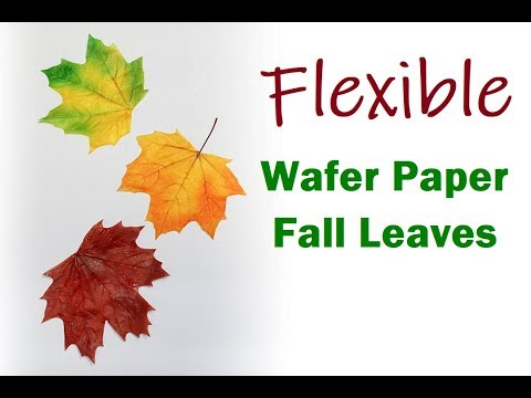 Flexible Wafer Paper Fall Leaves