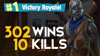 SOLO - 10 KILL DOUBLE RPG 302 WINS (Fortnite Battle Royale Gratis) [PT-BR] - Softe