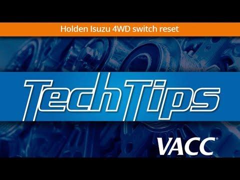 Holden Isuzu 4WD switch reset