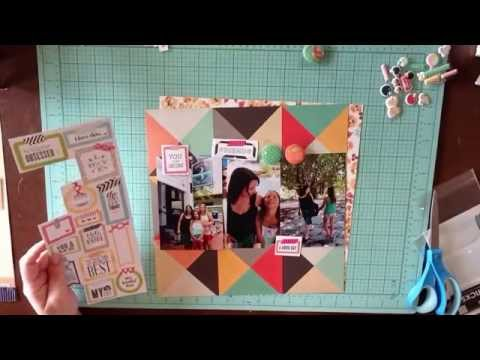 Jenni Bowlin Mercantile October Scrapbooking Kit - How To Get Started (Part 1)