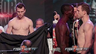 JEFF HORN MISSES WEIGHT! TERENCE CRAWFORD VS JEFF HORN - FULL WEIGH IN & FACE OFF