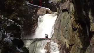 Smalls to the Wall Steep Creek Race Whitewater Kayaking in Maine